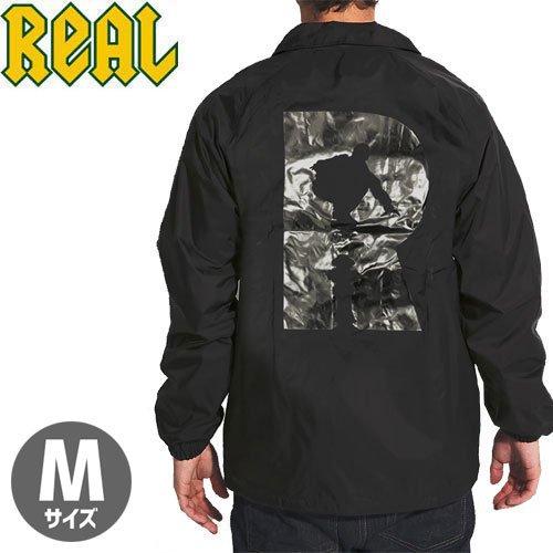 【リアル REAL SKATEBOARDS ジャケット】R WINDBREAKER JACKET【ブラック】NO1