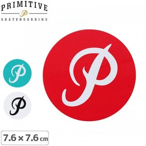 【プリミティブ PRIMITIVE スケボー ステッカー】CIRCLE【3色】【7.6cm×7.6cm】NO12