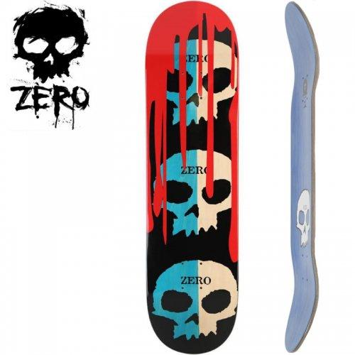 【ゼロ ZERO スケボー デッキ】3 SKULLS W/BLOOD BLUE/NATURAL  [8.125インチ] NO86