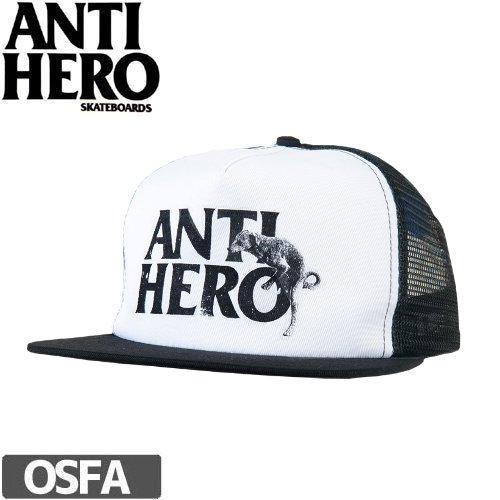 【アンチヒーロー ANTIHERO キャップ】ADJ DOG HUMP TRKR【ホワイト×ブラック】NO38