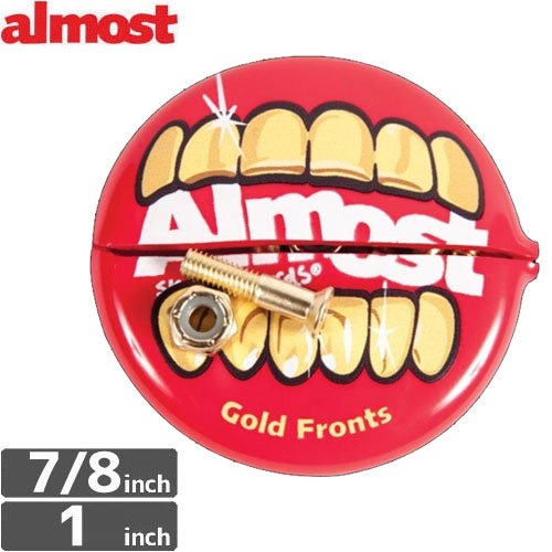 【ALMOST オルモスト ハードウェア】GOLD NUTS & BOLTS IN YR MTH【7/8インチ】【六角】NO5