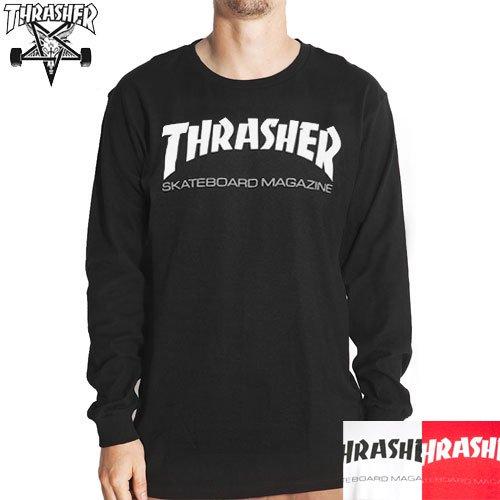 【スラッシャー THRASHER ロングTシャツ】USAモデル SKATE MAG L/S TEE【ブラック】【ホワイト】【レッド】NO2