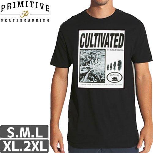 【PRIMITIVE プリミティブ Tシャツ】VINTAGE AD [ブラック]NO6