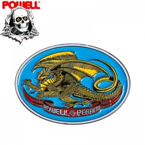 【パウエル POWELL スケボー ピンバッチ】LAPEL OVAL DRAGON PIN【2.7cm x 3.8cm】NO3
