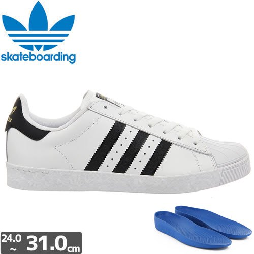 【アディダス ADIDAS SKATEBOARDING シューズ】SUPERSTAR VULC ADV LEATHER NO37