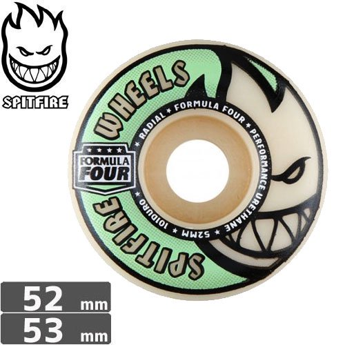 【SPITFIRE スピットファイア ウィール】FORMULA FOUR GLOW RADIAL【52mm】【53mm】NO206