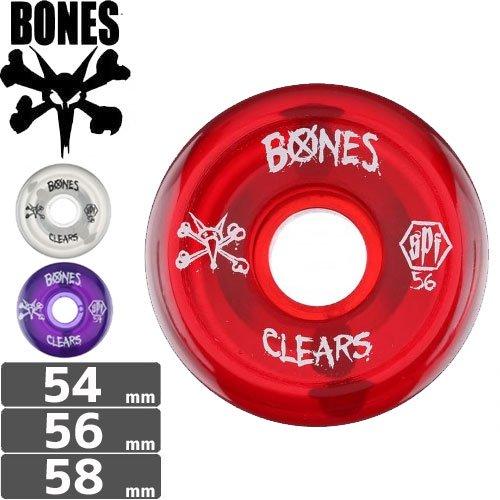 【ボーンズ BONES スケボー ウィール】SPF CLEAR【54mm】【56mm】【58mm】NO144