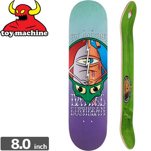 【トイマシーン TOY MACHINE デッキ】LUTHERAN TURTLEHEAD TYE DYE DECK[8.0インチ]NO154