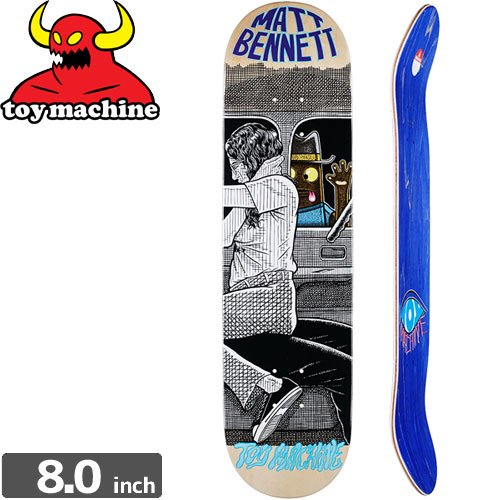 【トイマシーン TOY MACHINE デッキ】BENNETT PEEPING TOY DECK[8.0インチ]NO155