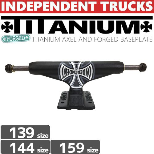 【INDEPENDENT トラック】STAGE11 FORGED TITANIUM TRUCKS BLACK【139】【144】【159】【STANDARD】NO90