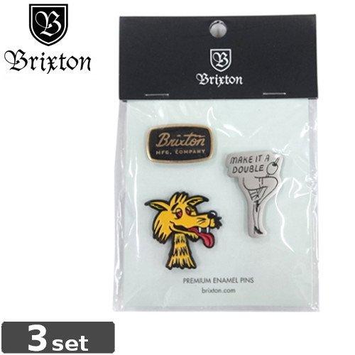 【BRIXTON ブリクストン ピンバッチ】LOVIN PIN PACK【3PAC】NO04