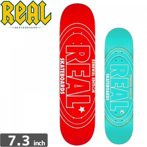 【リアル REAL スケボーデッキ】OVAL RENEWAL MINI [7.3インチ]NO123