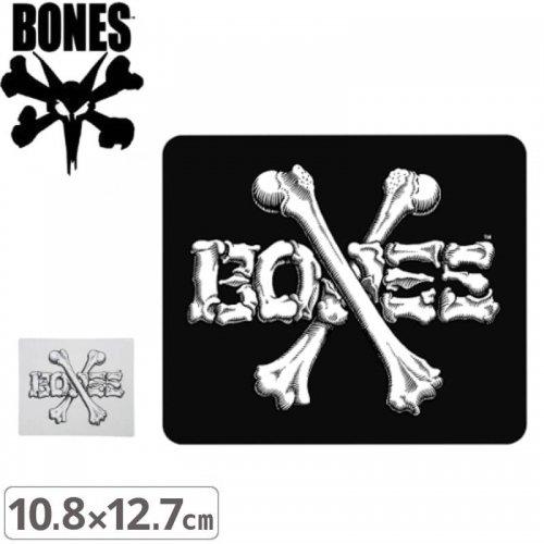 【ボーンズ BONES スケボー ステッカー】CROSS BONES【2色】【10.8cm x 12.7cm】NO49