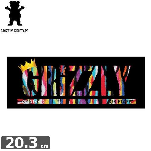 【グリズリー GRIZZLY ステッカー】GUSTAVO STAMP【7.6cm×20.3cm】NO33