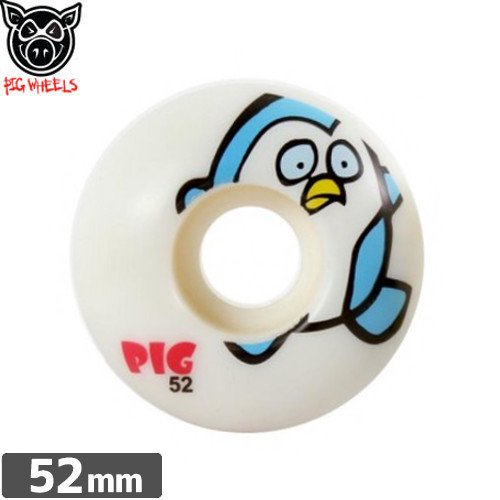 【ピッグ PIG WHEELS ウィール】ANIMAL FRIENDS WHEELS 【PENGUIN】【52mm】NO38