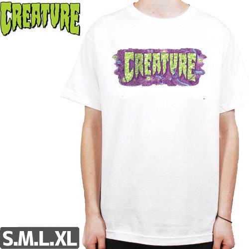 【CREATURE クリーチャー スケボー Tシャツ】DETOX S/S【ホワイト】NO124