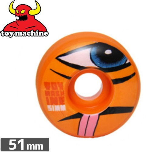【トイマシン TOY MACHINE ウィール】SECT ORANGE【51mm】NO40