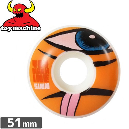 【トイマシン TOY MACHINE ウィール】SECT NATURAL ORANGE【51mm】NO39