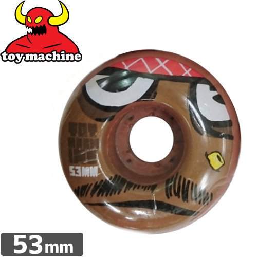 【トイマシン TOY MACHINE ウィール】POO POO HEAD FACE【53mm】NO41