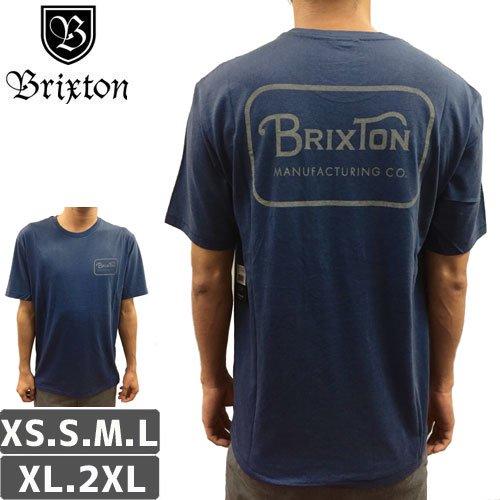 【BRIXTON ブリクストン スケボー Tシャツ】GRADE S/S STANDARD TEE【ネイビー】NO12