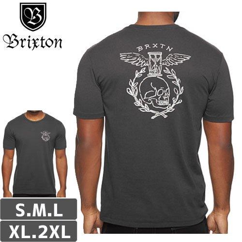 【BRIXTON ブリクストン スケボー Tシャツ】TICKIN S/S PREMIUM TEE【アッシュブラック】NO13