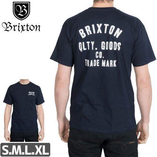 【BRIXTON ブリクストン スケボー Tシャツ】WOODBURN STANDARD GRAPHIC TEE【ネイビー】NO15