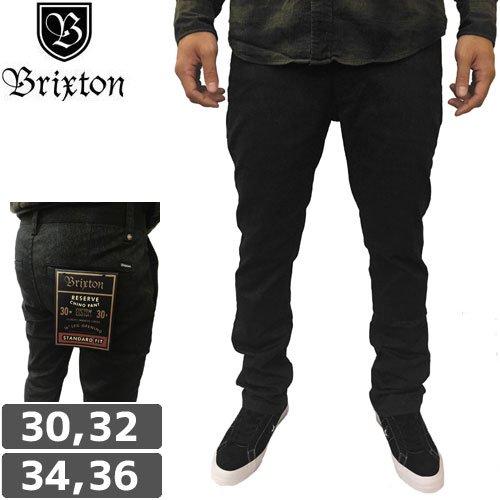 【BRIXTON ブリクストン パンツ スラックス】RESERVE CHINO PANT【ブラック】NO5