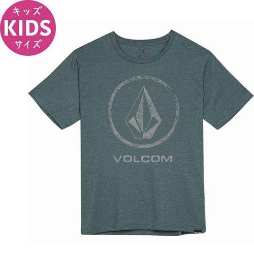 【ボルコム VOLCOM キッズ Tシャツ】FADE STONE TEE【グリーン】NO72