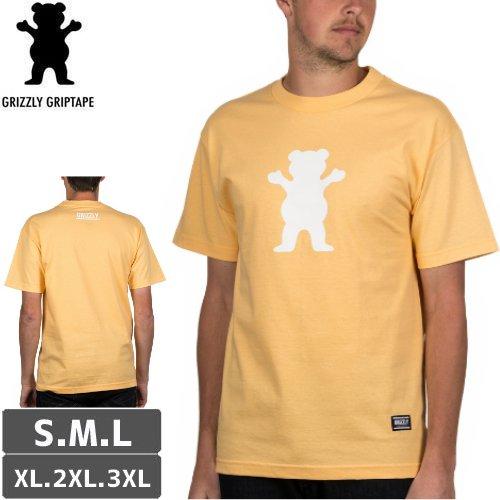 【グリズリー GRIZZLY Tシャツ】OG BEAR LOGO BASIC TEE【スカッシュオレンジ】NO39