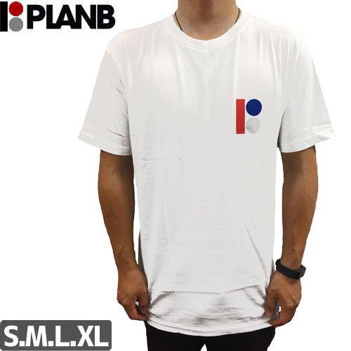 【プランビー PLAN-B スケボーTシャツ】CLASSIC SS TEE【ホワイト】NO26