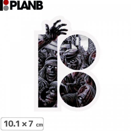 【プランビー PLAN-B スケボー STICKER ステッカー】THE RIPPING SHRED【10.1cm × 7cm】NO13