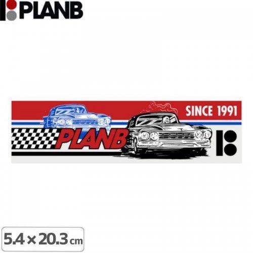 【プランビー PLAN-B スケボー STICKER ステッカー】RACER【5.4cm × 20.3cm】NO15