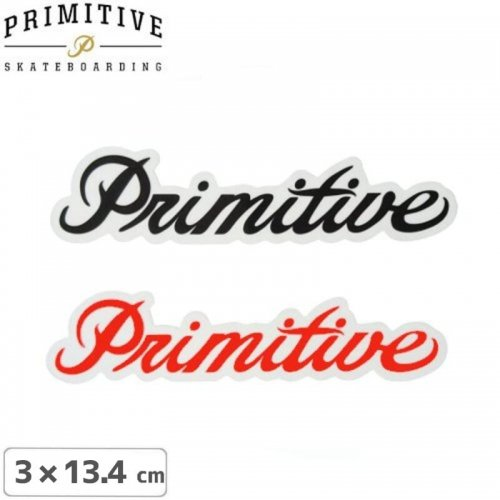 【プリミティブ PRIMITIVE スケボー ステッカー】LOGO【2色】【3cm×13.4cm】NO13