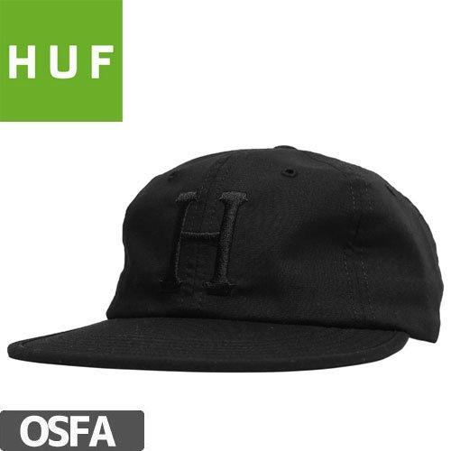 【HUF ハフ スケートボード キャップ】FORMLESS CLASSIC H 6 PANEL HAT【ブラック】NO65