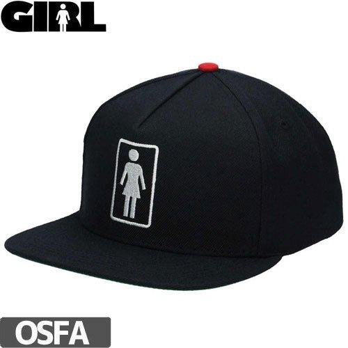 【GIRL ガールスケートボード キャップ】GIRL EVERYDAY OG SNAPBACK【ブラック】NO75