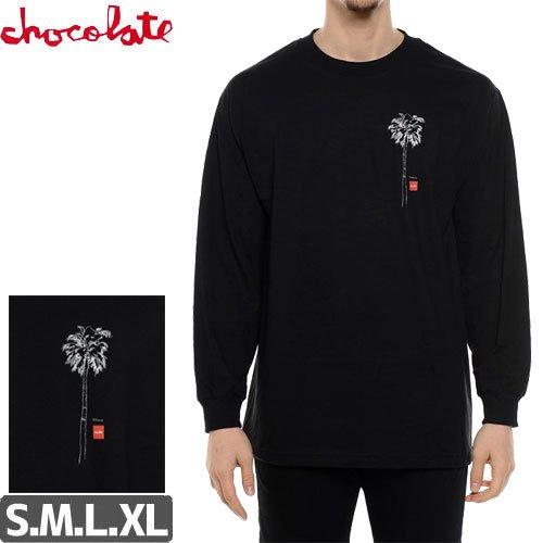 【チョコレート CHOCOLATE スケボー ロングTシャツ】SKETCH PALM LONGSLEEVE【ブラック】NO6