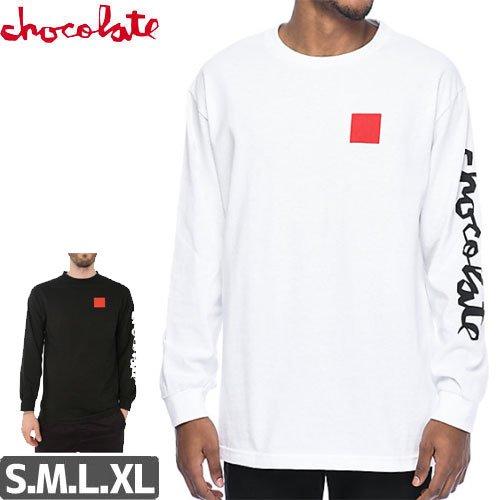 【チョコレート CHOCOLATE スケボー ロングTシャツ】CHUNK & SQUARE L/S 長袖【2カラー】NO7
