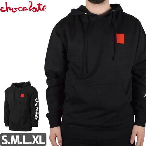 【チョコレート CHOCOLATE スケボー パーカー】CHUNK AND SQUARE HOODIE【ブラック】NO31