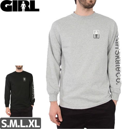 【GIRL ガールスケートボード ロング Tシャツ】LINEAR L/S TEE【2カラー】NO6