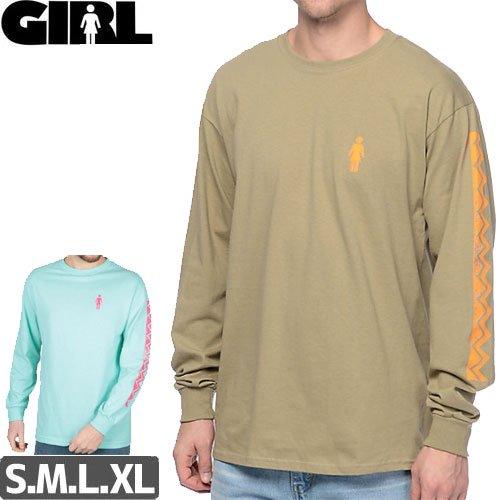 【GIRL ガールスケートボード ロング Tシャツ】TIKI L/S TEE【2カラー】NO7