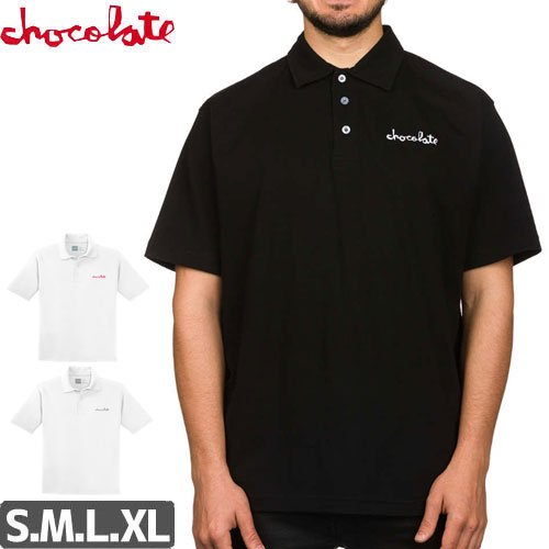 【チョコレート CHOCOLATE ポロ シャツ】CHUNK EMBROIDERED POLO SHIRT NO20