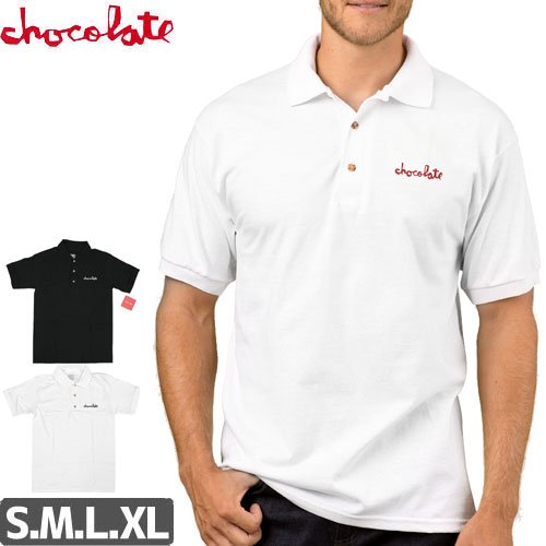 【チョコレート CHOCOLATE ポロ シャツ】CHUNK EMBROIDERED 6OZ POLO SHIRT NO21