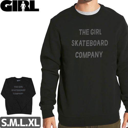 【GIRLSKATEBOARD ガールスケートボード スウェット】SANS CREWNECK【ブラック】NO55
