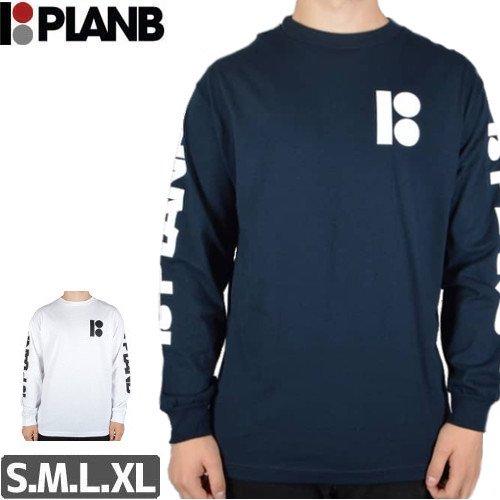 【プランビー PLAN-B スケボーロングTシャツ】REPEAT TEE【ネイビー】【ホワイト】NO1
