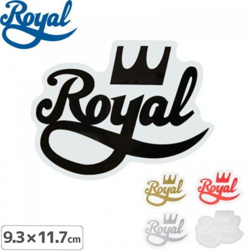 【ROYAL TRUCK ロイヤル ステッカー】LOGO STICKER【5色】【9.3cmx11.7cm】NO32