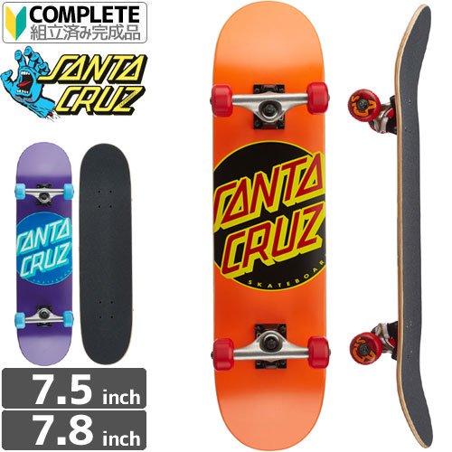 【サンタクルーズ SANTA CRUZ スケートボード コンプリート】CLASSIC DOT COMPLETE [7.5インチ][7.8インチ]NO54