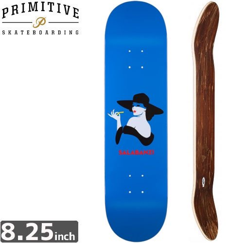 【PRIMITIVE プリミティブ スケボー デッキ】BASTIEN SALABANZI FRENCH FRIED DECK [8.2インチ]NO22