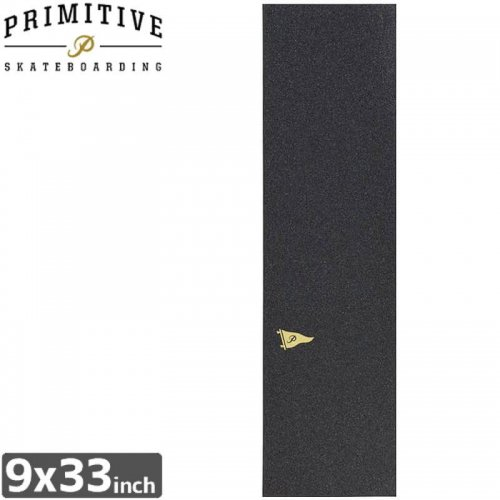 【PRIMITIVE プリミティブ スケボー デッキテープ】PENNANT LOGO GRIPTAPE【9x33】NO3