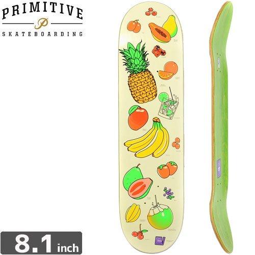 【PRIMITIVE プリミティブ スケボー デッキ】RIBIERO FRUIT PARTY [8.1インチ]NO26