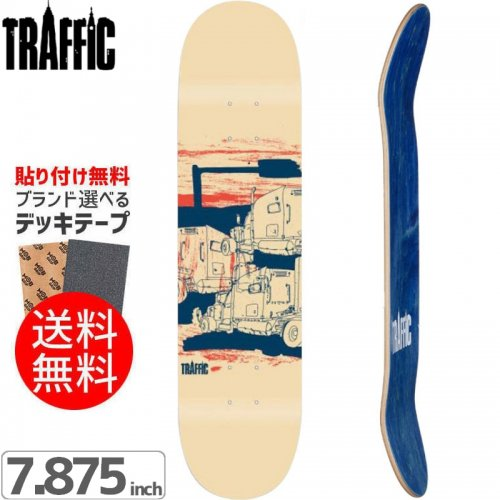 【TRAFFIC トラフィック スケボー デッキ】CITY SKETCH DECK[7.8インチ]NO2